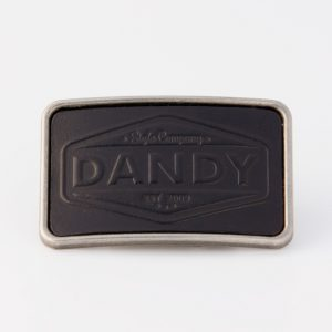 "Gürtelschnalle No.44 ""DANDY"" black"
