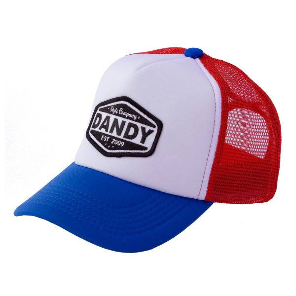 Trucker-Cap red/white/blue DANDY Style Company